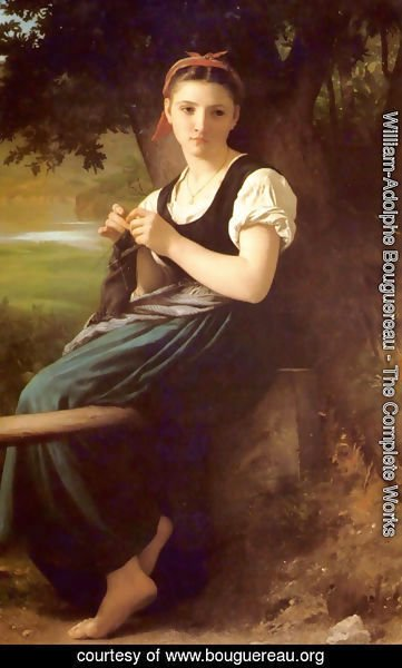 William-Adolphe Bouguereau - The Knitting Woman
