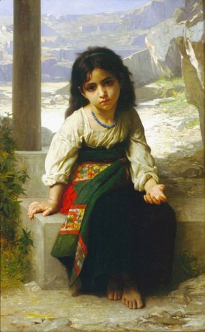 William-Adolphe Bouguereau - The little beggar