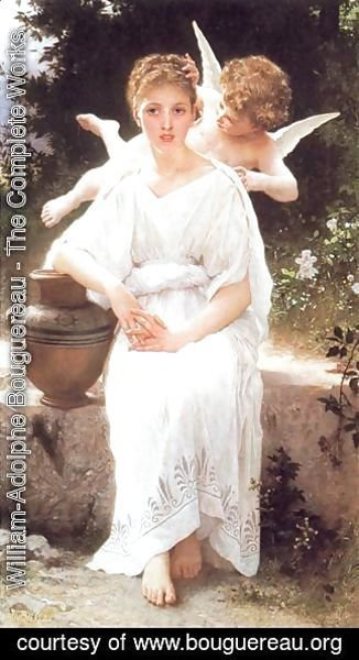 William-Adolphe Bouguereau - Whisperings of Love