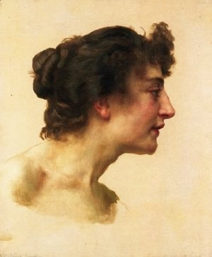 William-Adolphe Bouguereau - Study of the Head of Elize Brugière