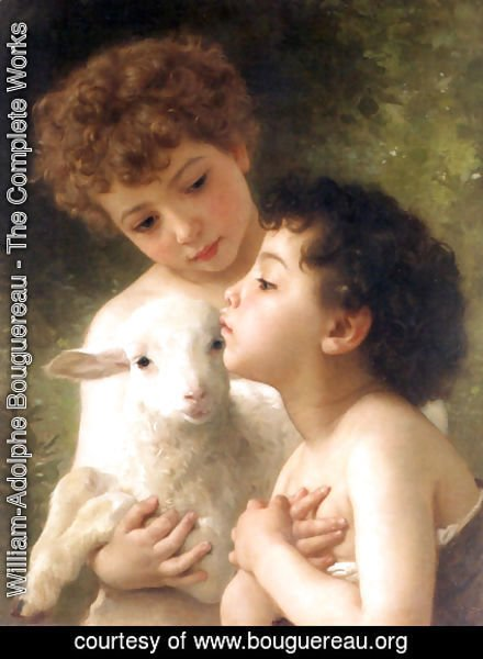 William-Adolphe Bouguereau - Children With the Lamb (Detail)