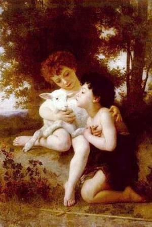 William-Adolphe Bouguereau - Children With the Lamb