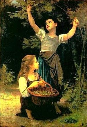 William-Adolphe Bouguereau - Collecting Hazlenuts