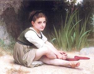 William-Adolphe Bouguereau - Girl by Stream