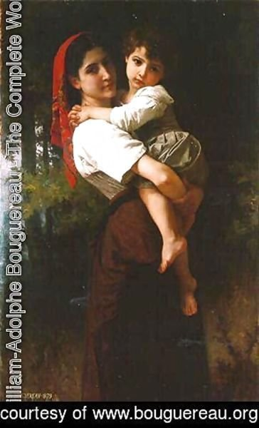 Girl Carrying a Child