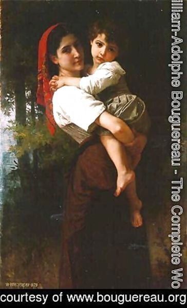 William-Adolphe Bouguereau - Girl Carrying a Child
