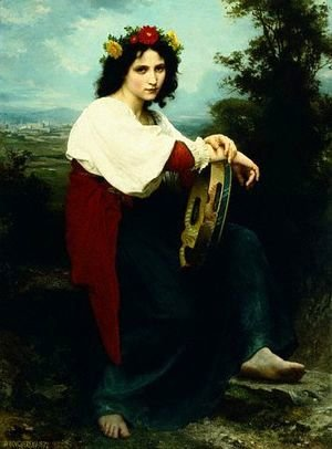 Italian Girl with a Basque Drum