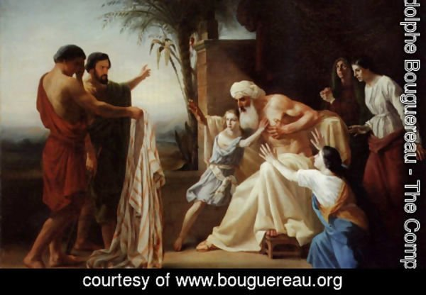 William-Adolphe Bouguereau - Jacob Recieving the Tunic of His Son
