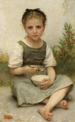 William-Adolphe Bouguereau - Lunch in the Morning