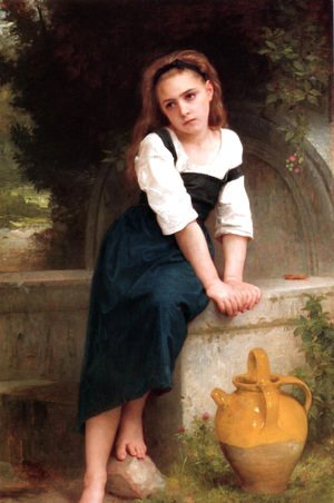 William-Adolphe Bouguereau - Ophan by the Well