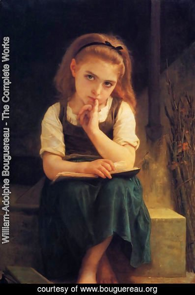 William-Adolphe Bouguereau - The Difficult Lesson