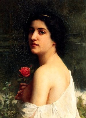 William-Adolphe Bouguereau - The Pink Rose