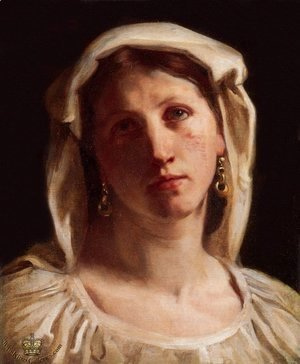 William-Adolphe Bouguereau - Woman in Italian Costume