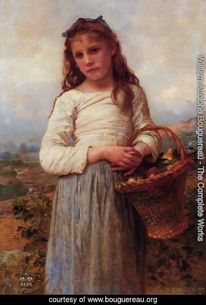 Young Girl with a Basket of Fruit
