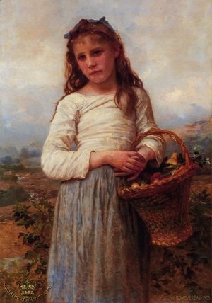 William-Adolphe Bouguereau - Young Girl with a Basket of Fruit