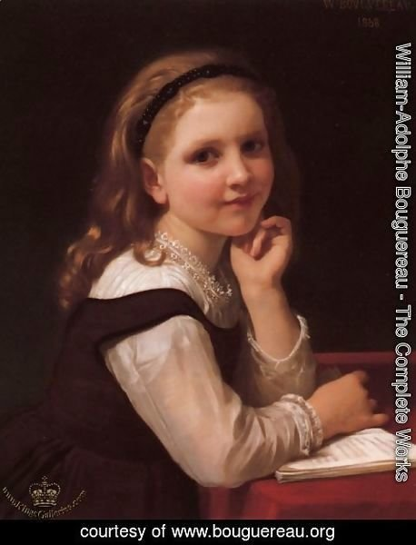 William-Adolphe Bouguereau - Young Schoolgirl