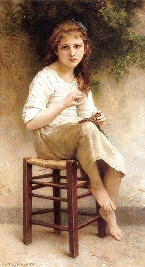William-Adolphe Bouguereau - Young Sewing Girl
