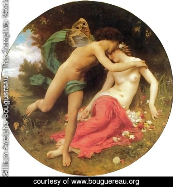 William-Adolphe Bouguereau - Cupid And Psyche