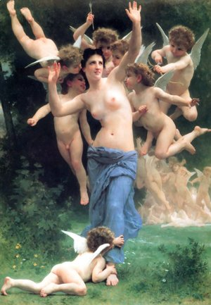 William-Adolphe Bouguereau - Invading Cupids Realm