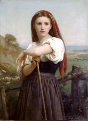 William-Adolphe Bouguereau - Jeune Bergere 1868