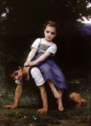 William-Adolphe Bouguereau - La Bourrique Oil On Canvas