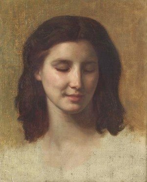 William-Adolphe Bouguereau - Etude de tete d'Augustine