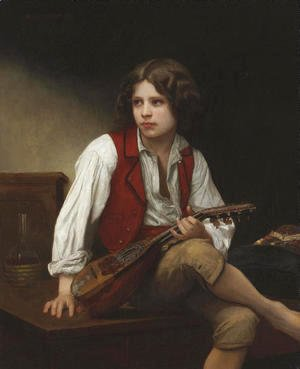 William-Adolphe Bouguereau - Italien a la mandoline