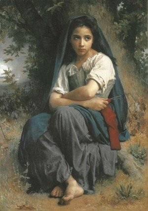 William-Adolphe Bouguereau - La petite tricoteuse