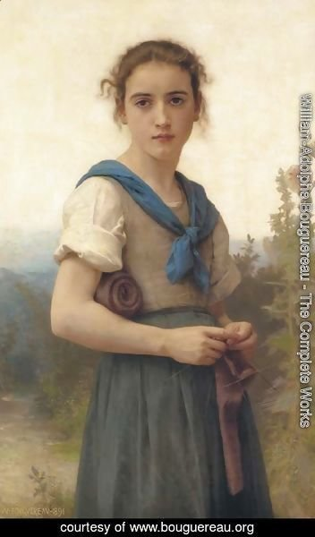 William-Adolphe Bouguereau - La Tricoteuse