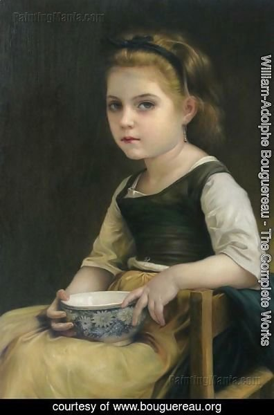 William-Adolphe Bouguereau - Petite fille au bol bleu