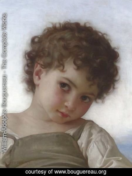 William-Adolphe Bouguereau - Tete d'enfant
