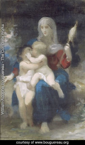 William-Adolphe Bouguereau - A Study for Sainte Famille