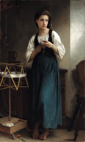 William-Adolphe Bouguereau - Devideuse