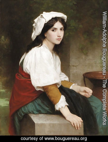 William-Adolphe Bouguereau - Italienne a la fontaine