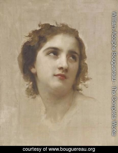 William-Adolphe Bouguereau - Study of a Young Girl's Head 2