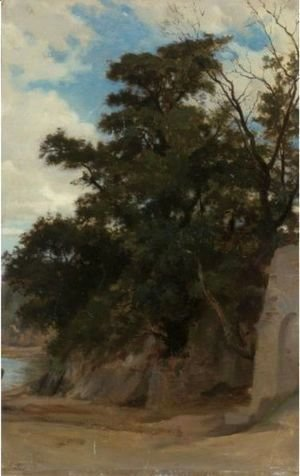 William-Adolphe Bouguereau - Trees In A Coastal Landscape