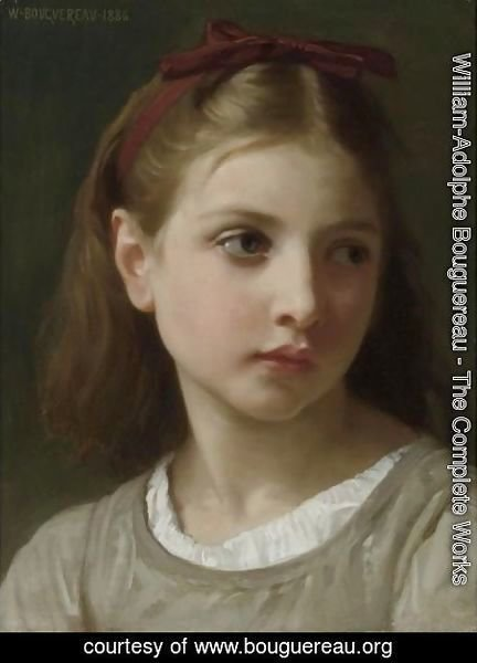 William-Adolphe Bouguereau - Une Petite Fille