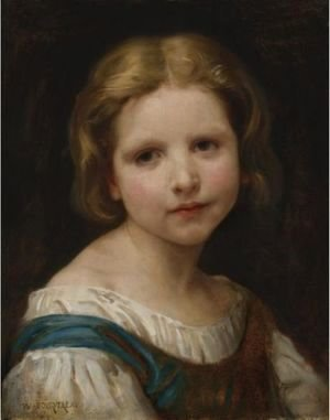 William-Adolphe Bouguereau - Portrait Of A Girl