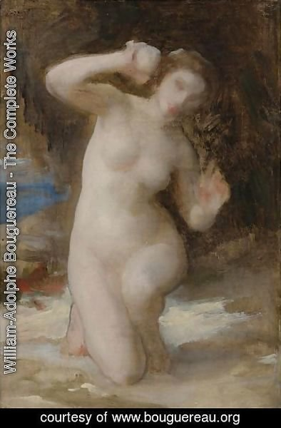 William-Adolphe Bouguereau - Study For Femme Au Coquillage