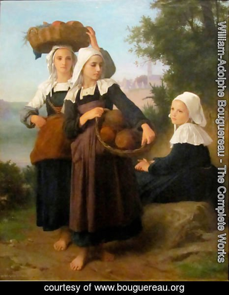 William-Adolphe Bouguereau - Girls of Fouesnant Returning from Market,1869