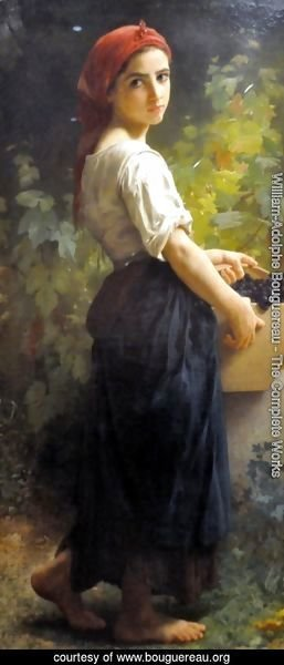 William-Adolphe Bouguereau - Girl with Grapes