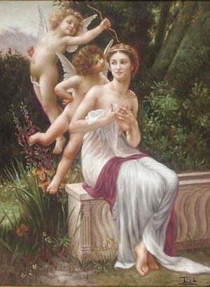 William-Adolphe Bouguereau - In the garden of cupid
