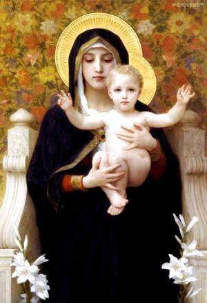 William-Adolphe Bouguereau - The Madonna of the Lilies