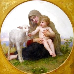 William-Adolphe Bouguereau - The Virgin Lamb