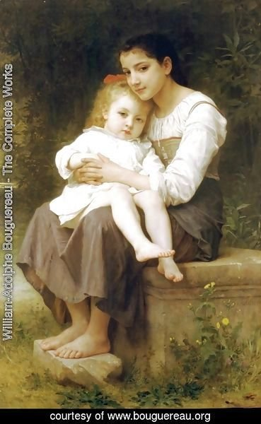 William-Adolphe Bouguereau - The elder sister 2