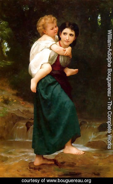 William-Adolphe Bouguereau - Passage gue