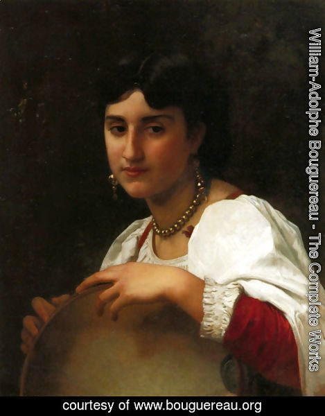 William-Adolphe Bouguereau - The Italian tambourine
