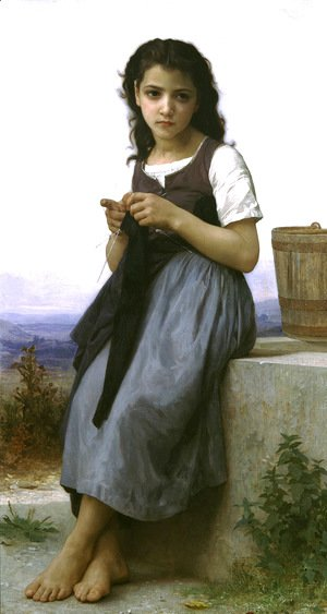 William-Adolphe Bouguereau - The Knitter