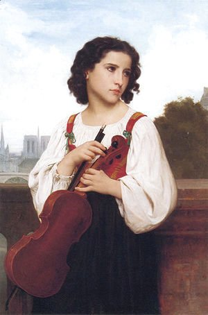 William-Adolphe Bouguereau - Alone in the world