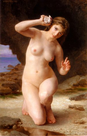 William-Adolphe Bouguereau - Woman with Shell